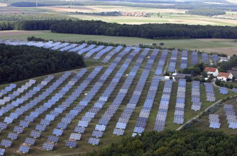 This is the Bavaria Solarpark in Muehlhausen, Germany, and can generate 10MW of electricity from 57600 photovoltaic panels.!